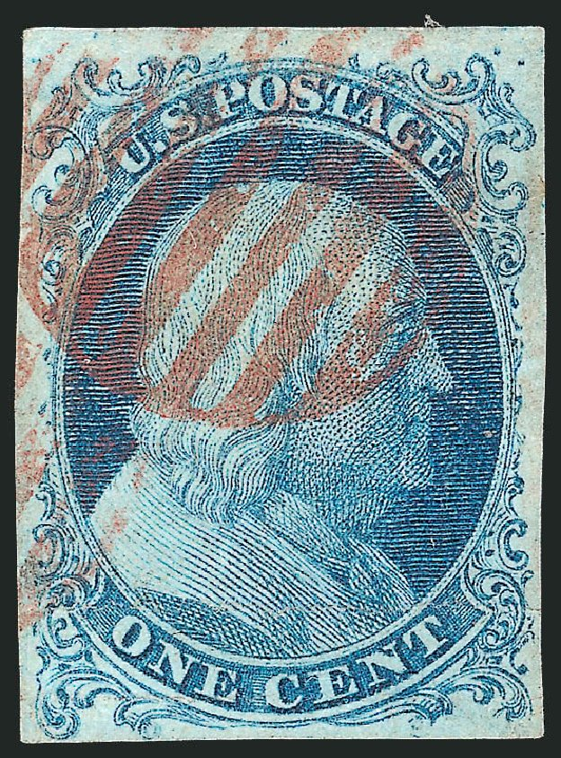 US Stamp Prices Scott Catalog # 5A: 1c 1851 Franklin. Robert Siegel Auction Galleries, Oct 2010, Sale 997, Lot 5118