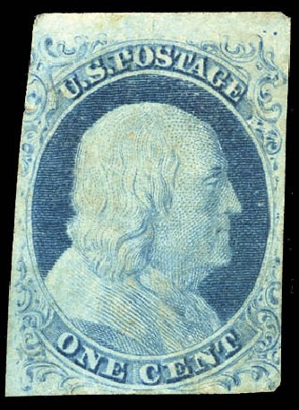 US Stamps Value Scott Cat. #5A - 1c 1851 Franklin. Matthew Bennett International, Sep 2011, Sale 338, Lot 1669