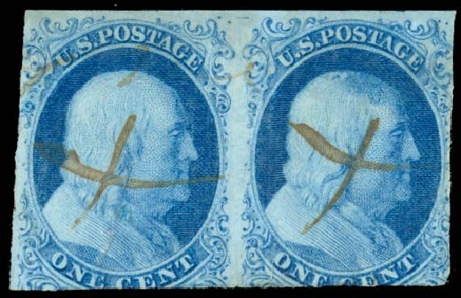 Values of US Stamp Scott #5A - 1851 1c Franklin. Daniel Kelleher Auctions, Aug 2015, Sale 672, Lot 2119