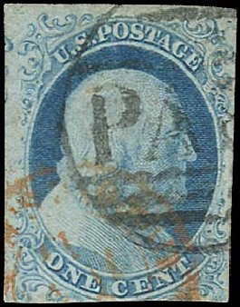 US Stamps Prices Scott Catalogue #5A - 1851 1c Franklin. Regency-Superior, Aug 2015, Sale 112, Lot 50