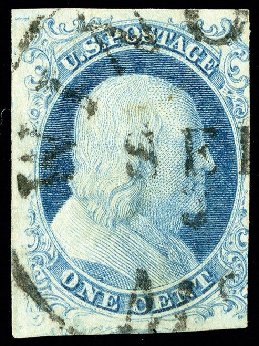 Value of US Stamps Scott Catalogue 5A: 1851 1c Franklin. Spink Shreves Galleries, May 2014, Sale 148, Lot 20