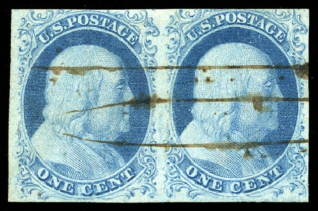 Value of US Stamp Scott 5A - 1c 1851 Franklin. Matthew Bennett International, Feb 2015, Sale 351, Lot 21