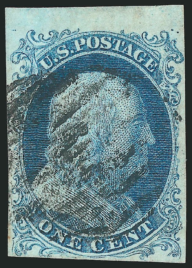 Cost of US Stamp Scott Cat. #5A - 1c 1851 Franklin. Robert Siegel Auction Galleries, Nov 2014, Sale 1084, Lot 3031