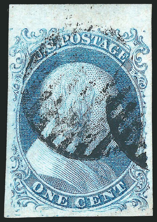 US Stamps Prices Scott Catalog #5A: 1c 1851 Franklin. Robert Siegel Auction Galleries, Sep 2010, Sale 994, Lot 611