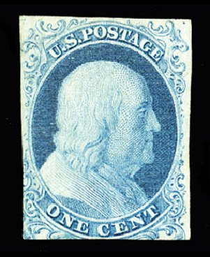 Cost of US Stamp Scott #5A - 1c 1851 Franklin. Cherrystone Auctions, Jul 2015, Sale 201507, Lot 2005