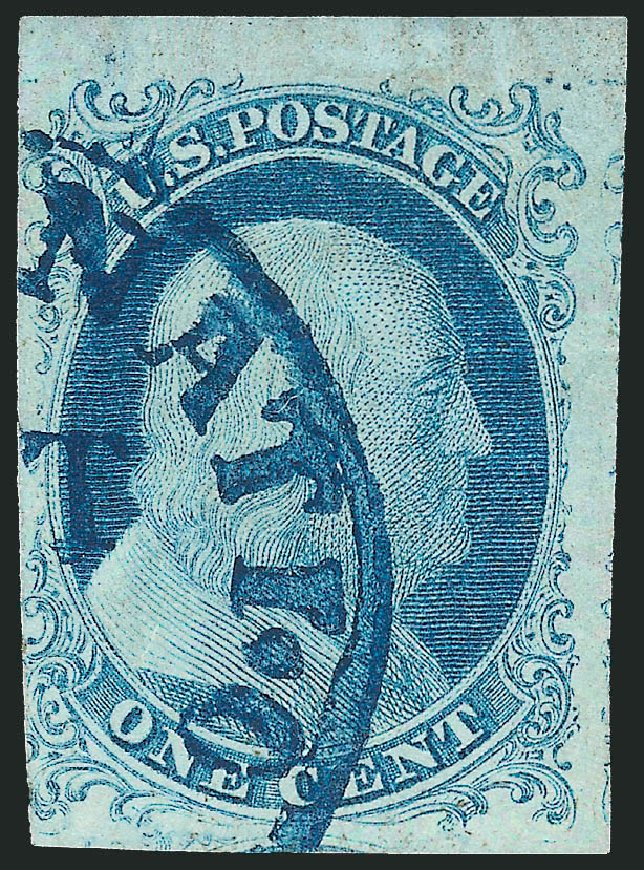 US Stamps Price Scott Cat. # 5A: 1851 1c Franklin. Robert Siegel Auction Galleries, Dec 2010, Sale 1000, Lot 1005