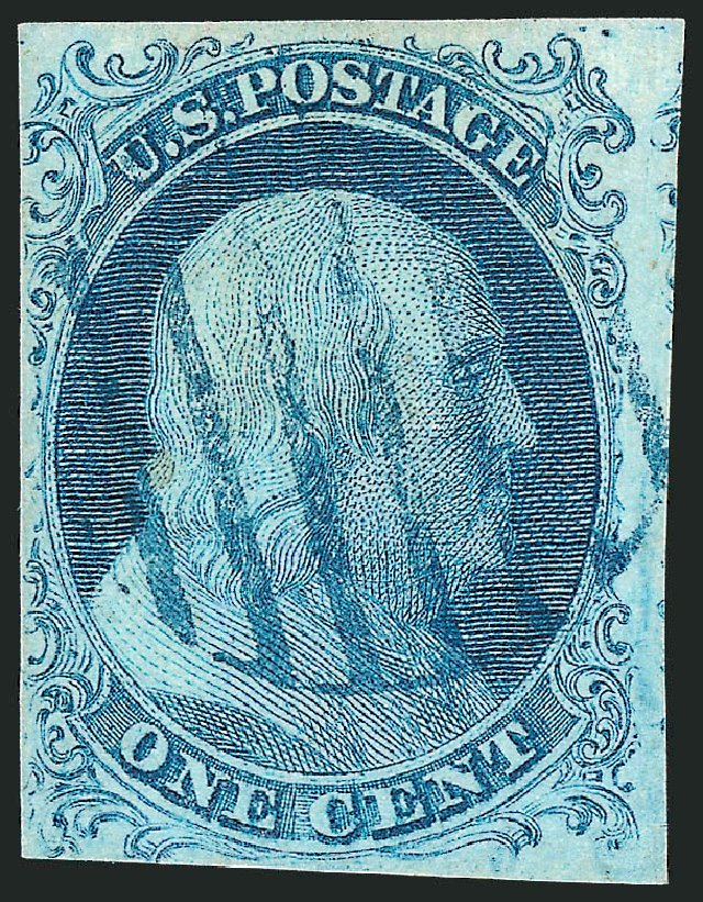 Prices of US Stamps Scott Catalog #5A - 1c 1851 Franklin. Robert Siegel Auction Galleries, Sep 2010, Sale 994, Lot 615