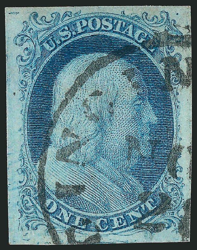Value of US Stamp Scott Catalogue #5A: 1851 1c Franklin. Robert Siegel Auction Galleries, Oct 2012, Sale 1032, Lot 3012