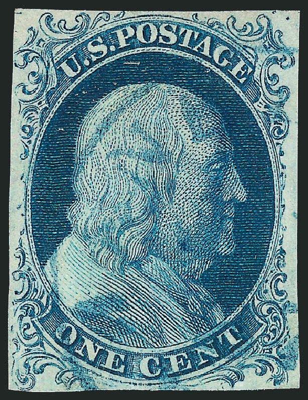US Stamps Prices Scott Catalogue #5A: 1c 1851 Franklin. Robert Siegel Auction Galleries, Mar 2013, Sale 1040, Lot 1182