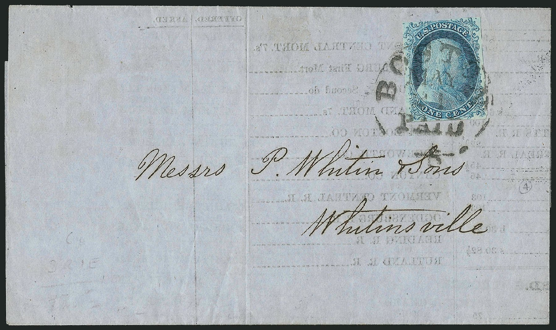US Stamp Values Scott Catalogue 5A: 1c 1851 Franklin. Robert Siegel Auction Galleries, Sep 2010, Sale 994, Lot 612