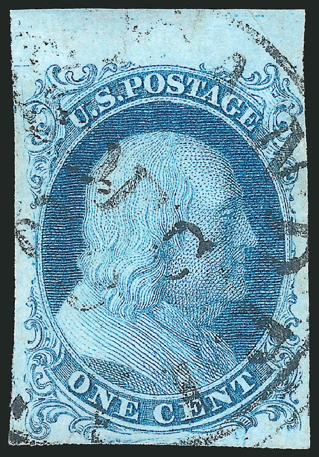 Values of US Stamps Scott Catalogue # 5A - 1c 1851 Franklin. Robert Siegel Auction Galleries, Dec 2010, Sale 998, Lot 2