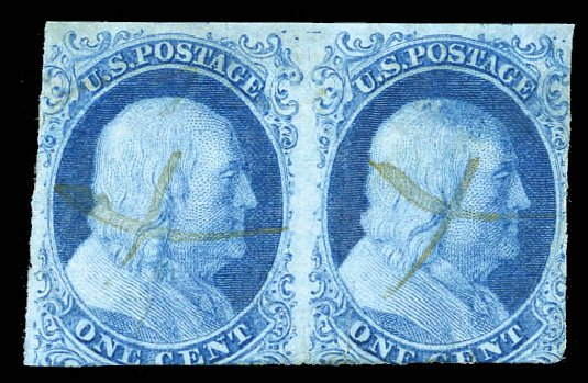 Values of US Stamp Scott Catalogue 5A: 1851 1c Franklin. Matthew Bennett International, Mar 2012, Sale 344, Lot 4193