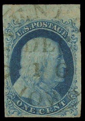 Value of US Stamps Scott Catalogue # 5A - 1c 1851 Franklin. Daniel Kelleher Auctions, Aug 2012, Sale 631, Lot 663