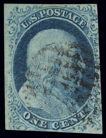 Price of US Stamp Scott Catalogue 5A - 1851 1c Franklin. Daniel Kelleher Auctions, Feb 2013, Sale 634, Lot 6