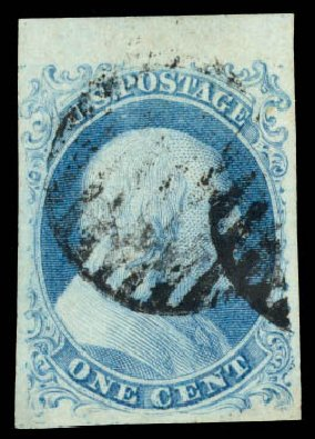 Cost of US Stamps Scott Catalogue # 5A: 1c 1851 Franklin. Daniel Kelleher Auctions, Aug 2015, Sale 672, Lot 2116
