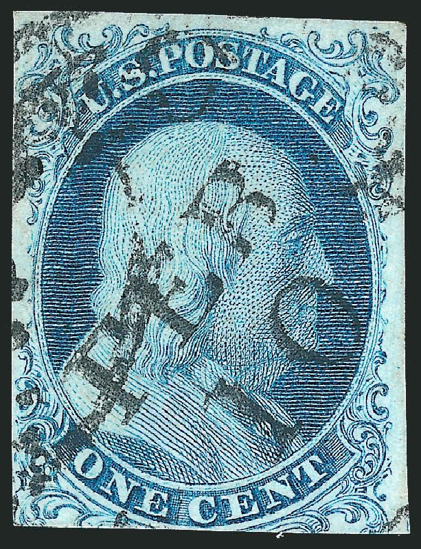 Cost of US Stamp Scott Cat. 5A: 1851 1c Franklin. Robert Siegel Auction Galleries, Oct 2011, Sale 1014, Lot 1036