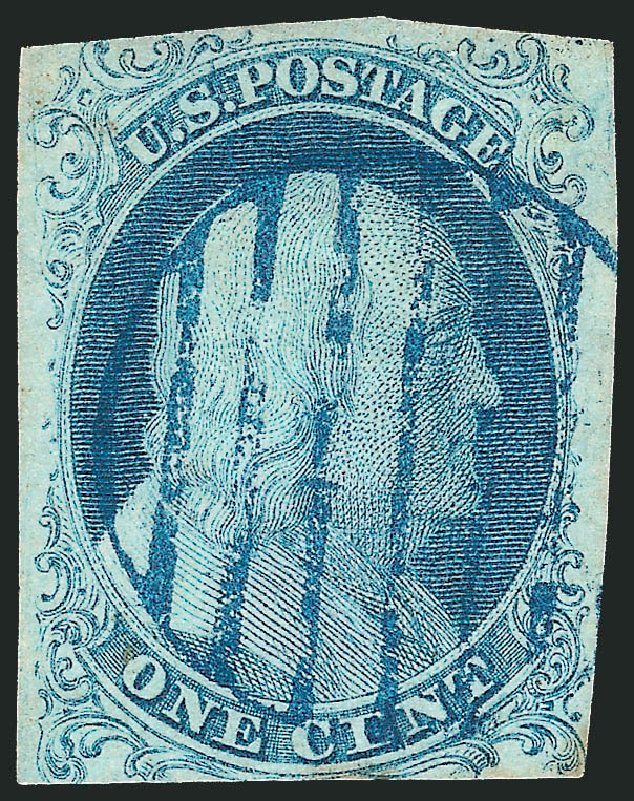 Price of US Stamp Scott Cat. 5A: 1851 1c Franklin. Robert Siegel Auction Galleries, Dec 2012, Sale 1037, Lot 1396