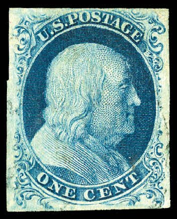 Us Stamps Price Scott Cat 6 1c 1857 Franklin
