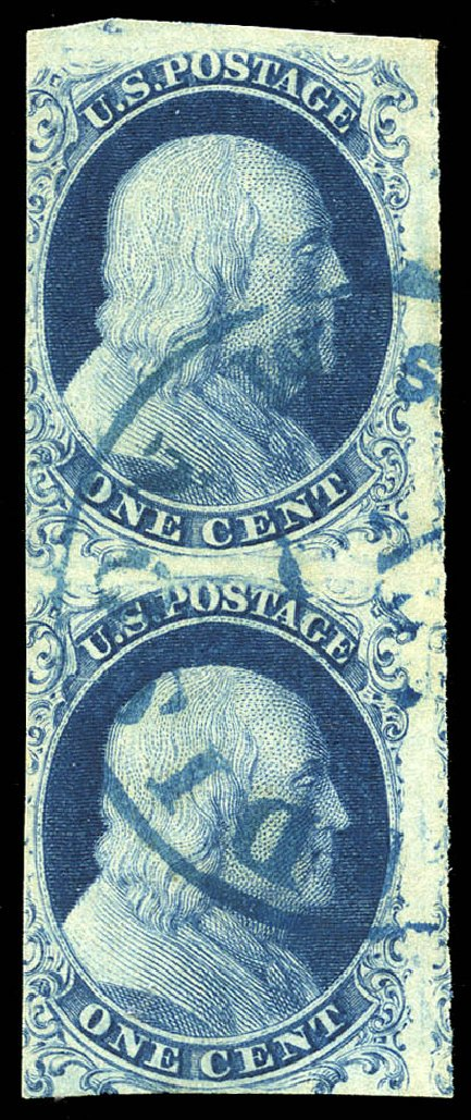 Costs of US Stamps Scott Catalog # 6 - 1c 1857 Franklin. Matthew Bennett International, Feb 2015, Sale 351, Lot 24