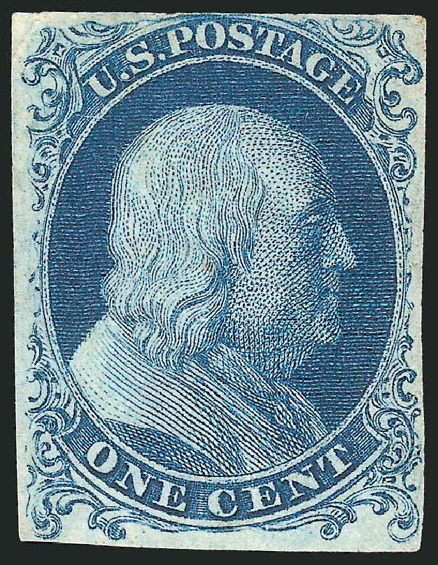 Price of US Stamp Scott Catalog #6: 1c 1857 Franklin. Robert Siegel Auction Galleries, Dec 2014, Sale 1090, Lot 1125