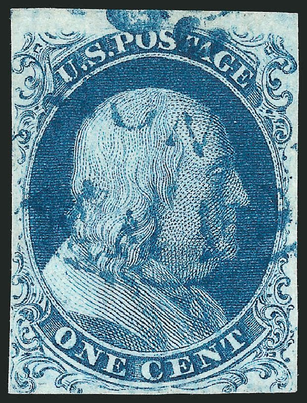 Prices of US Stamp Scott Catalog #6 - 1857 1c Franklin. Robert Siegel Auction Galleries, Apr 2015, Sale 1096, Lot 12