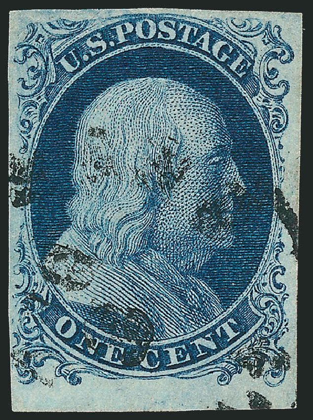 Cost of US Stamp Scott Catalogue # 6: 1c 1857 Franklin. Robert Siegel Auction Galleries, Jun 2015, Sale 1106, Lot 3022