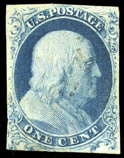 Cost of US Stamps Scott #6: 1857 1c Franklin. Matthew Bennett International, Feb 2015, Sale 351, Lot 23