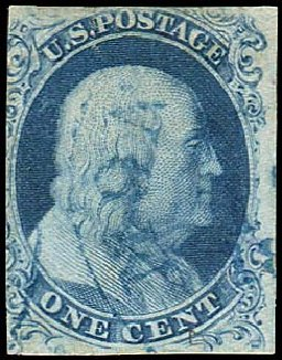 Price of US Stamps Scott Catalog #6 - 1857 1c Franklin. Regency-Superior, Aug 2015, Sale 112, Lot 53