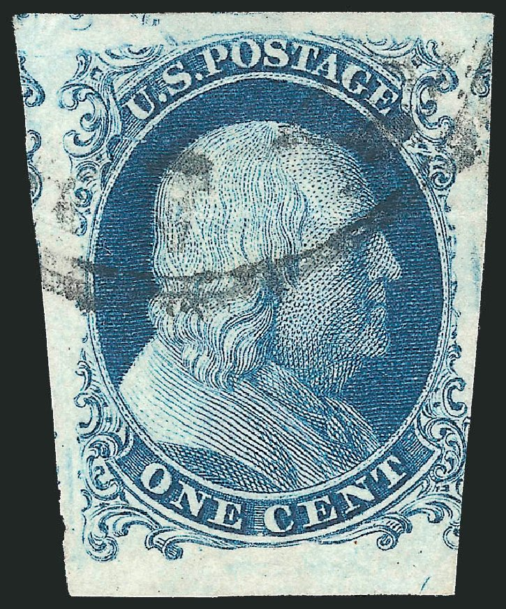US Stamps Values Scott Cat. #6: 1c 1857 Franklin. Robert Siegel Auction Galleries, Nov 2014, Sale 1084, Lot 3033