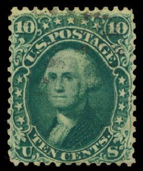 Cost of US Stamps Scott Catalog # 62B: 10c 1861 Washington. Daniel Kelleher Auctions, Oct 2014, Sale 660, Lot 2077