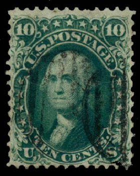 Price of US Stamp Scott Catalogue #62B: 10c 1861 Washington. Daniel Kelleher Auctions, May 2014, Sale 652, Lot 140