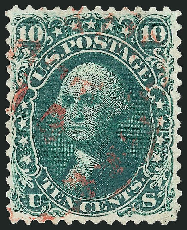US Stamps Price Scott Catalog 62B: 1861 10c Washington. Robert Siegel Auction Galleries, Jul 2014, Sale 1077, Lot 81