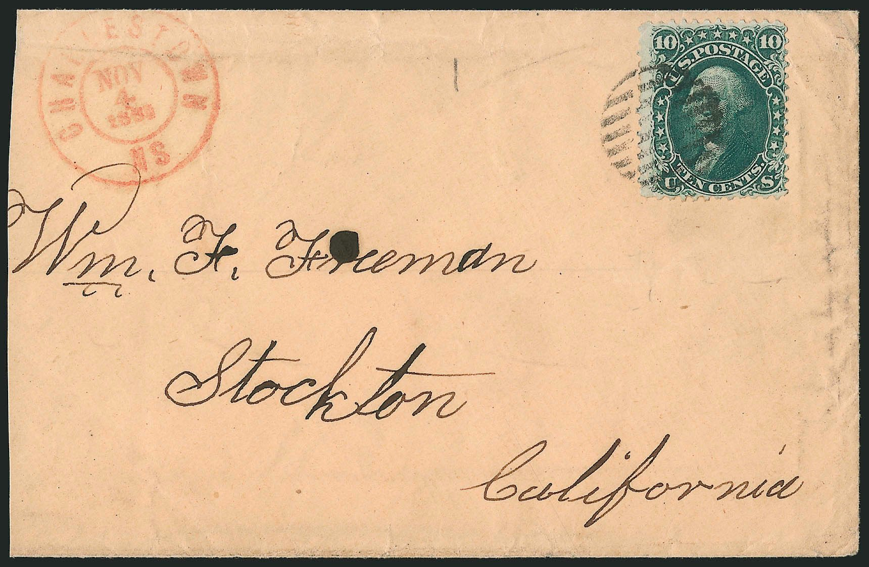 Prices of US Stamp Scott Cat. # 62B - 1861 10c Washington. Robert Siegel Auction Galleries, Nov 2014, Sale 1084, Lot 3184