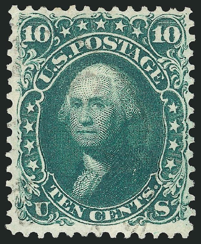 Values of US Stamps Scott # 62B - 10c 1861 Washington. Robert Siegel Auction Galleries, Jul 2014, Sale 1077, Lot 82