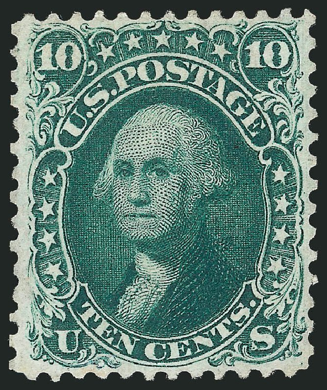 Price of US Stamp Scott Catalogue #62B - 1861 10c Washington. Robert Siegel Auction Galleries, Nov 2014, Sale 1084, Lot 3182