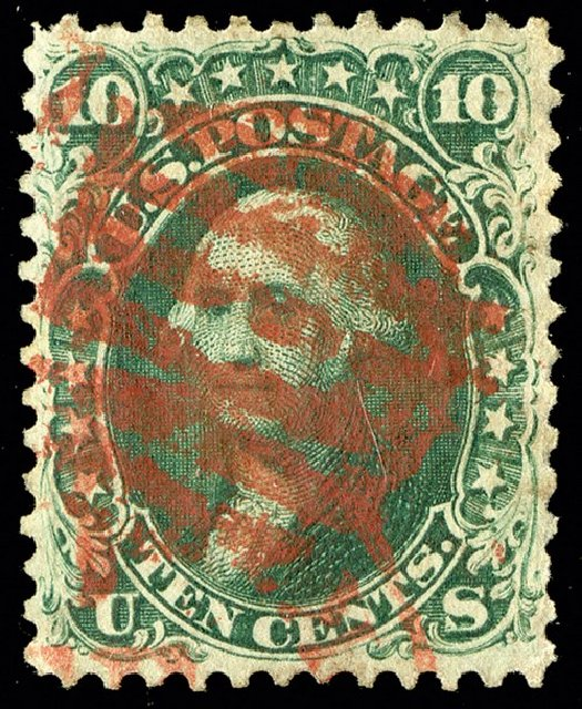 Cost of US Stamp Scott Cat. 62B: 10c 1861 Washington. Spink Shreves Galleries, May 2014, Sale 148, Lot 73