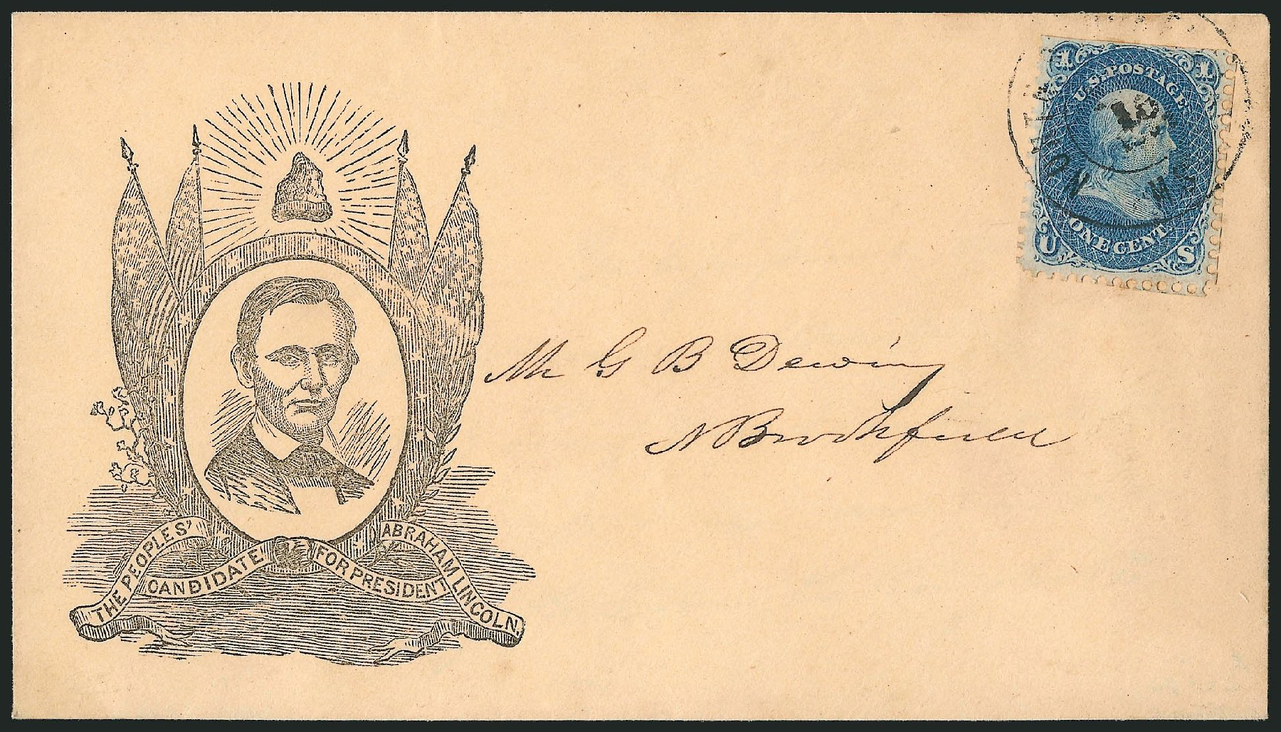 US Stamp Price Scott # 63: 1861 1c Franklin. Robert Siegel Auction Galleries, Jun 2015, Sale 1105, Lot 2559