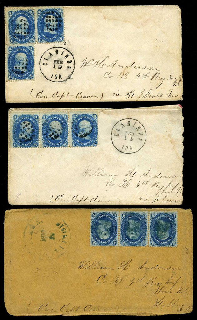 Value of US Stamp Scott Catalogue #63 - 1c 1861 Franklin. Harmer-Schau Auction Galleries, May 2015, Sale 105, Lot 110