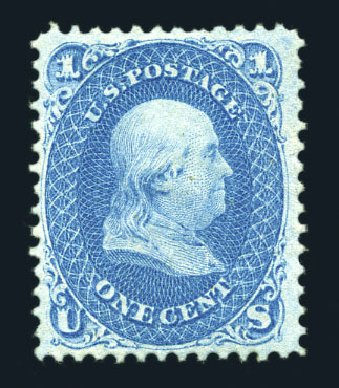 Costs of US Stamps Scott Cat. #63: 1861 1c Franklin. Harmer-Schau Auction Galleries, Aug 2015, Sale 106, Lot 1381