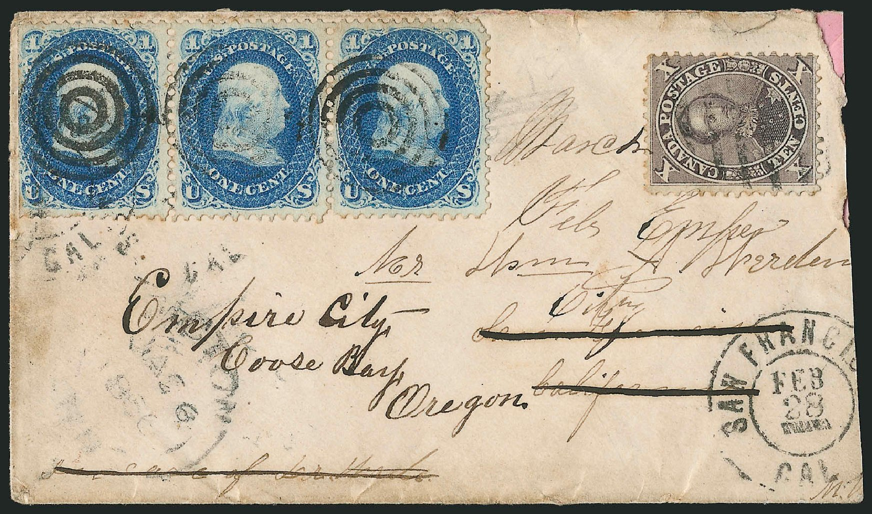 US Stamp Values Scott Catalog 63: 1c 1861 Franklin. Robert Siegel Auction Galleries, Jun 2015, Sale 1105, Lot 2601