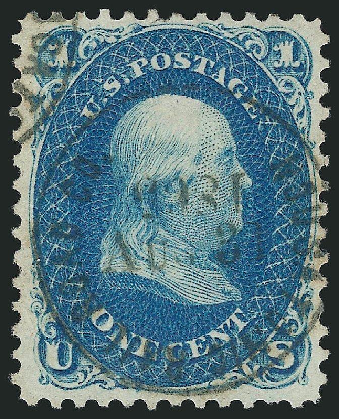 Us Stamp Value Scott 63 1861 1c Franklin