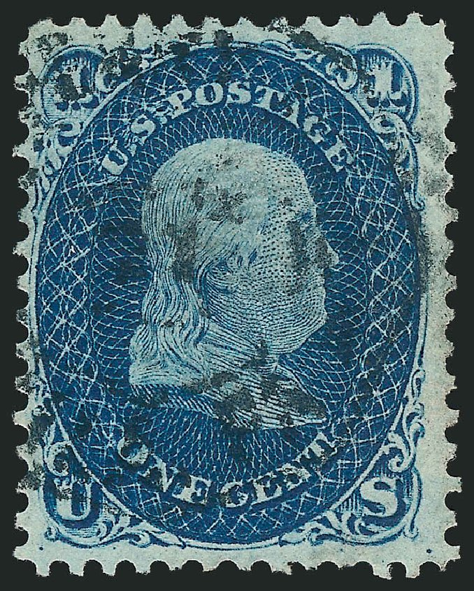 Costs of US Stamp Scott Catalogue 63 - 1c 1861 Franklin. Robert Siegel Auction Galleries, Jun 2015, Sale 1106, Lot 3082