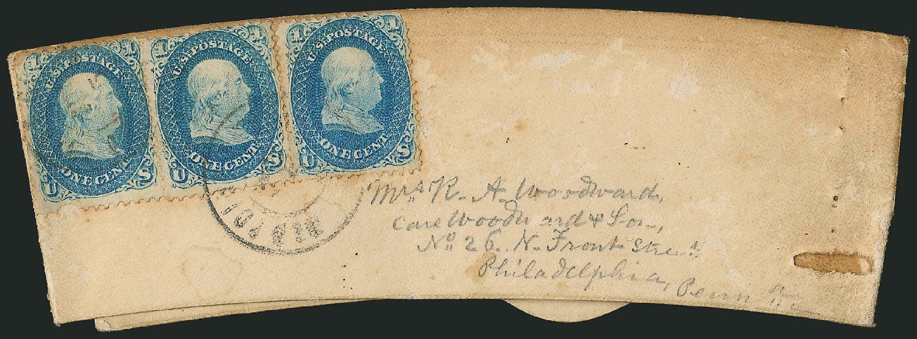 US Stamps Values Scott 63 - 1c 1861 Franklin. Robert Siegel Auction Galleries, Jun 2015, Sale 1105, Lot 2566