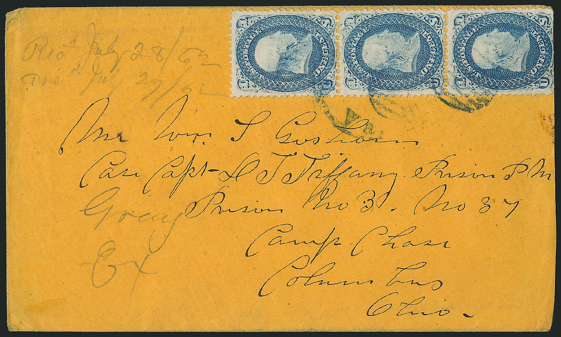Value of US Stamp Scott Cat. # 63 - 1861 1c Franklin. Robert Siegel Auction Galleries, Jun 2015, Sale 1105, Lot 2576