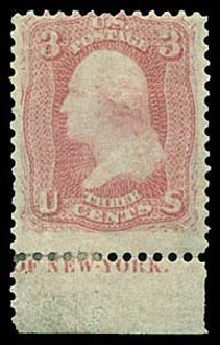 Values of US Stamps Scott 64 - 1861 3c Washington. Regency-Superior, Aug 2015, Sale 112, Lot 148
