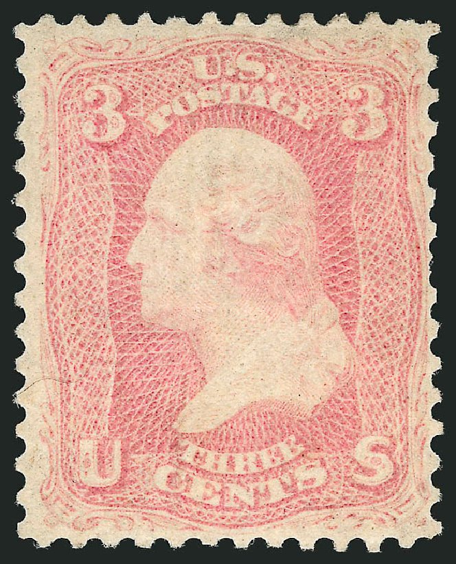 US Stamp Prices Scott Catalog #64 - 3c 1861 Washington. Robert Siegel Auction Galleries, Apr 2015, Sale 1096, Lot 119