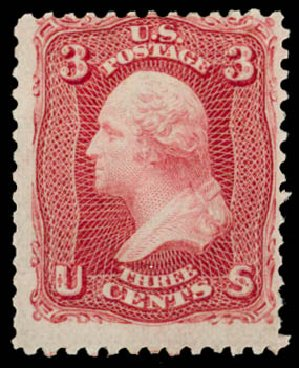 Price of US Stamps Scott #64: 1861 3c Washington. Daniel Kelleher Auctions, Aug 2015, Sale 672, Lot 2250