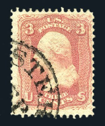 Price of US Stamps Scott 64 - 3c 1861 Washington. Harmer-Schau Auction Galleries, Aug 2015, Sale 106, Lot 1384