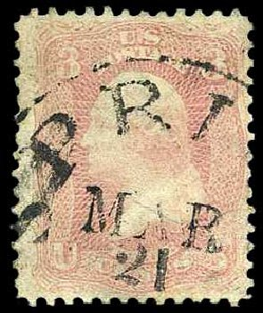 Cost of US Stamp Scott Catalog # 64 - 3c 1861 Washington. Harmer-Schau Auction Galleries, Aug 2015, Sale 106, Lot 1385