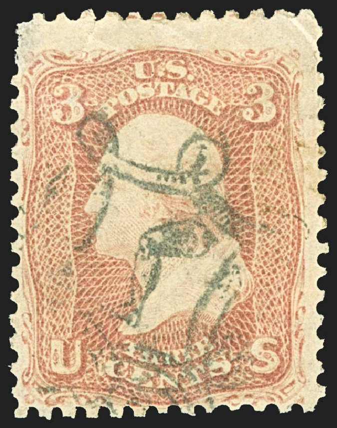 Value of US Stamp Scott 65: 1861 3c Washington. Robert Siegel Auction Galleries, Jul 2015, Sale 1107, Lot 148